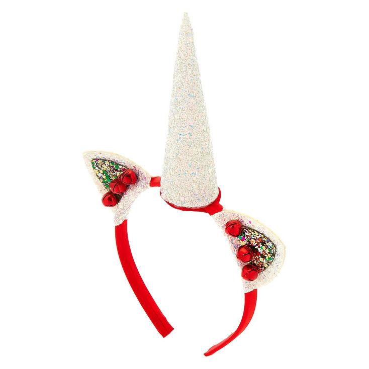 Christmas Glitter Unicorn Headband