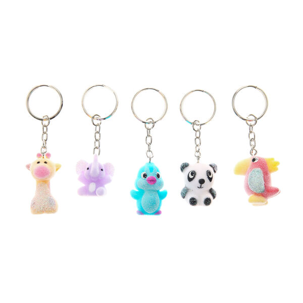 Claire's - 5 pack best friend jungle animal keyrings - 1