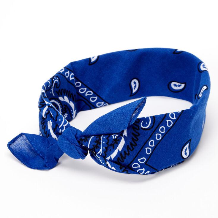 Paisley Bandana Headwrap - Royal Blue,