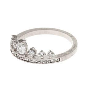 Silver Cubic Zirconia Tiara Ring,