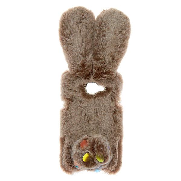 Claire's - faux fur bunny phone case - 1