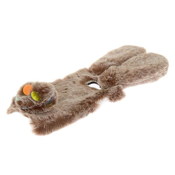 Claire's - faux fur bunny phone case - 2