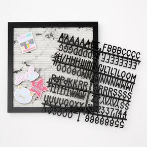 Framed Marble Letterboard Set,