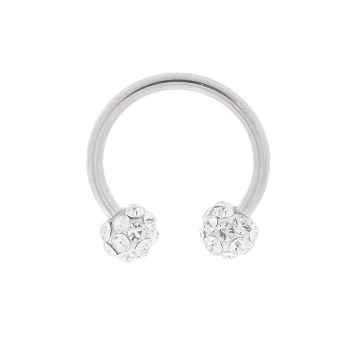 a68831423 16G Silver Fireball Cartilage Horseshoe Earring | Claire's US