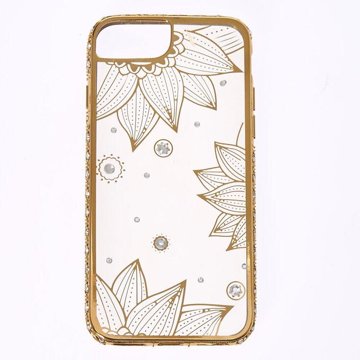 newest d9de3 9d4d3 Crystal Lotus Flower Phone Case