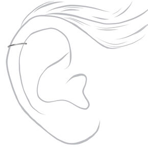 Piercings pour cartilage d'oreille aux designs variés avec perles d'imitation et strass couleur titanée et couleur argentée - Lot de 3,