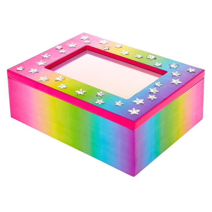 Rainbow Gem Mirror Jewelry Box,