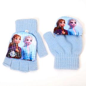 ©Disney Frozen 2 Fingerless Gloves With Mitten Flap - Blue,