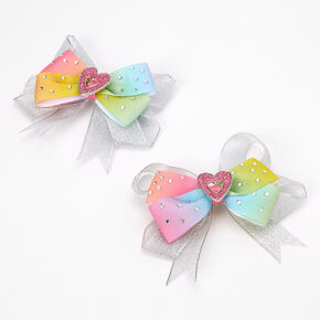 Love, Diana™ Rainbow Heart Hair Bows – 2 Pack,