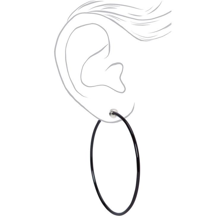 Mixed Metal Graduated Textured Clip On Hoop Earrings - 3 Pack,