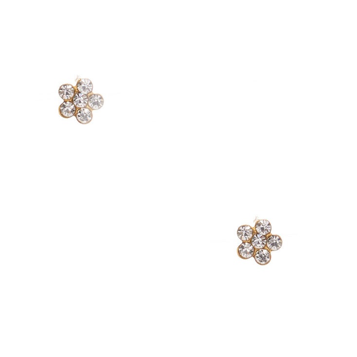 18ct Gold Plated Daisy Stud Earrings,