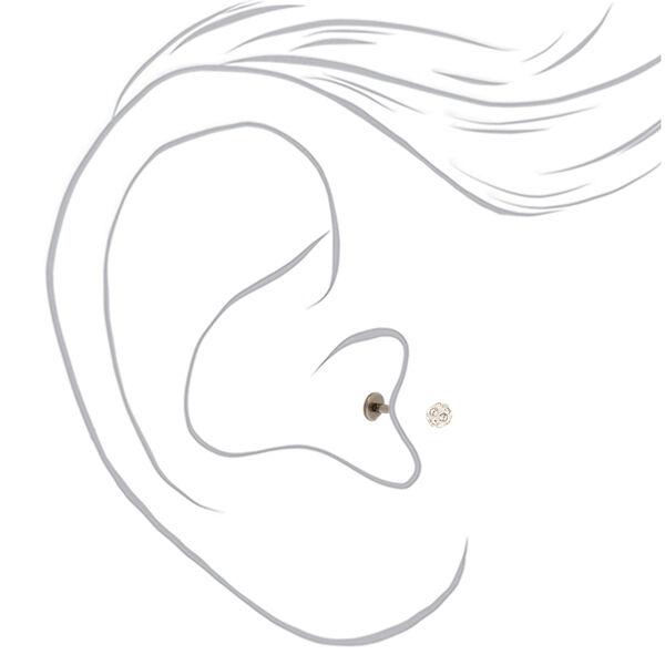 Claire's - titanium 16g fireball tragus earring - 2