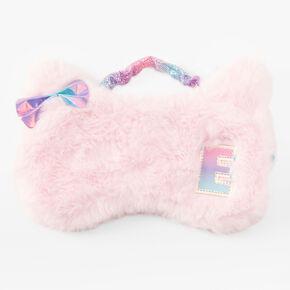Initial Cat Sleeping Mask - Pink, E,