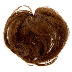 Élastique à cheveux synthétiques raides - Marron,