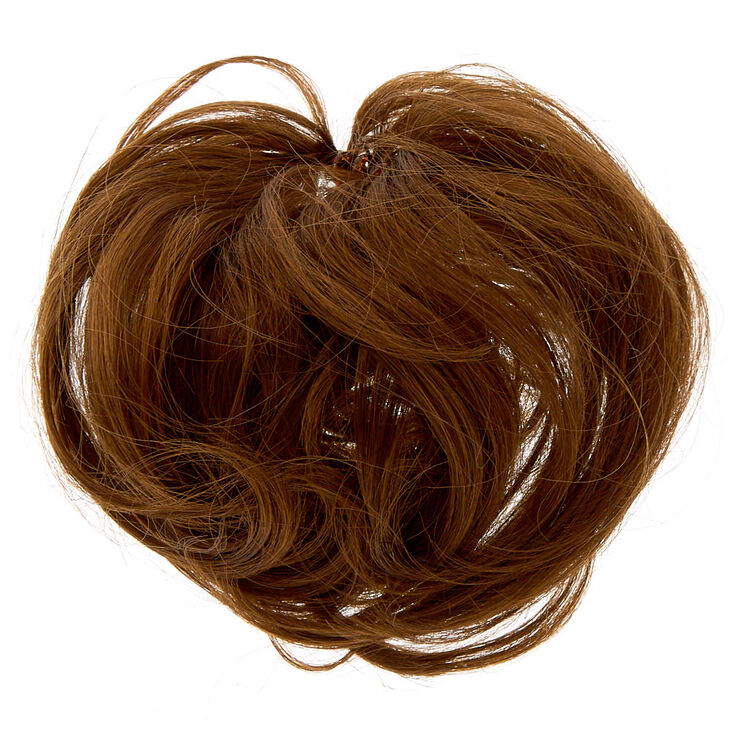 Straight Faux Hair Tie - Brown,