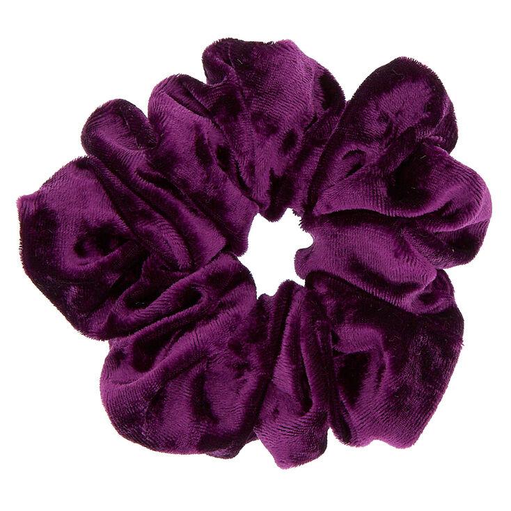 Medium Velvet Hair Scrunchie - Purple,