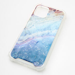 Navy Ombre Confetti Protective Phone Case - Fits iPhone 12/12 Pro,