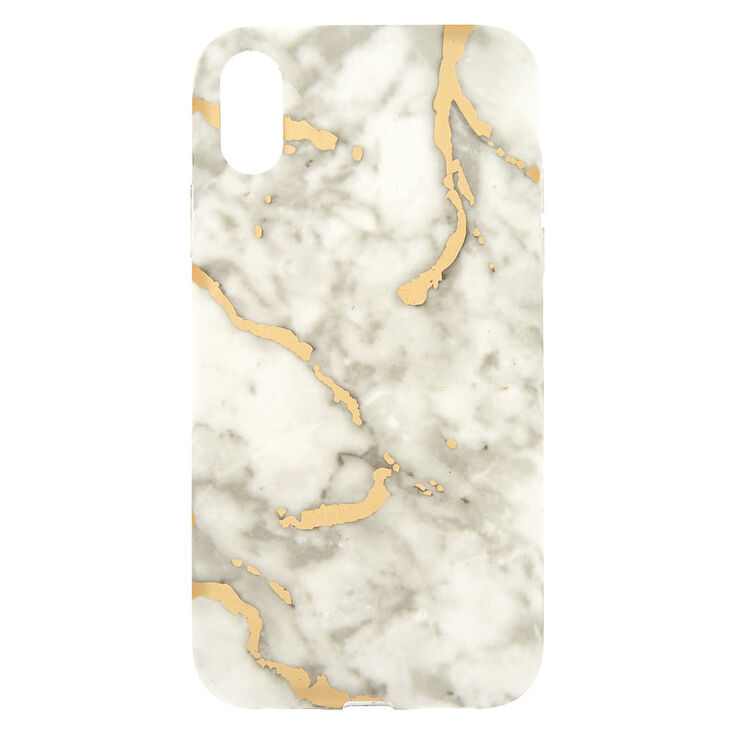 White Amp Gold Marble Phone Case Fits Iphone Xr Claire S Us