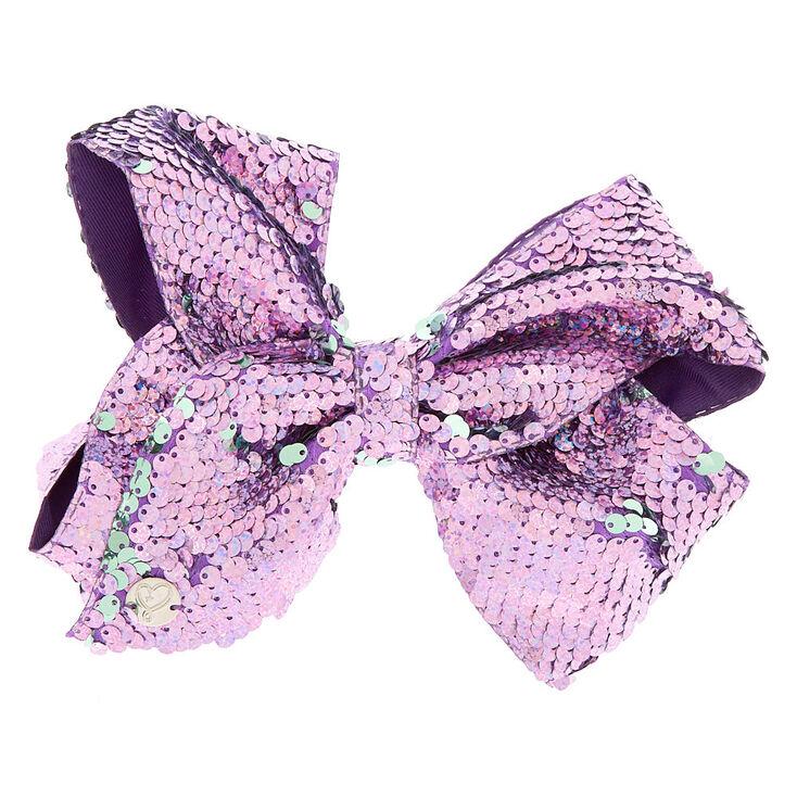 Three Inch Bows Extra Large 3 Neon Purple Neon Purple Sequins DIY Supplies Headbands Hair Clips Hair Accessories Sparkle