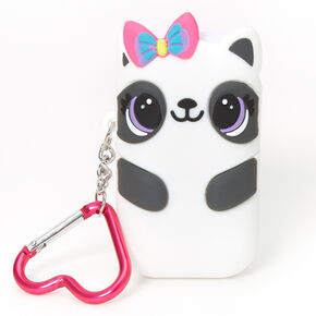 Paige the Panda Reusable Collapsible Straw Keychain - White,