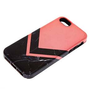 39187963515 Black Marble Geometric Protective Phone Case - Fits iPhone 6/7/8