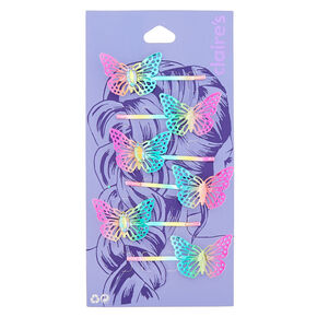 Anodized Butterfly Hair Pins - 6 Pack,