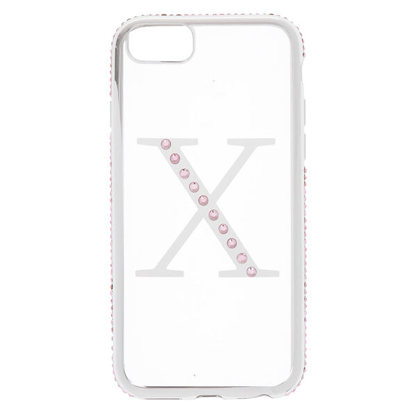 Claire's - stone x initial phone case - 1