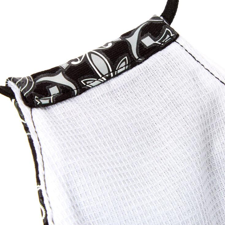 Cotton Black Bandana Print Face Mask - Adult,