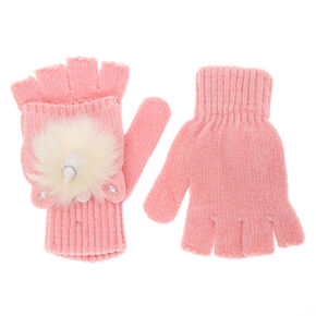 Go to Product: Glitter Unicorn Fingerless Gloves With Mitten Flap - Pink from Claires