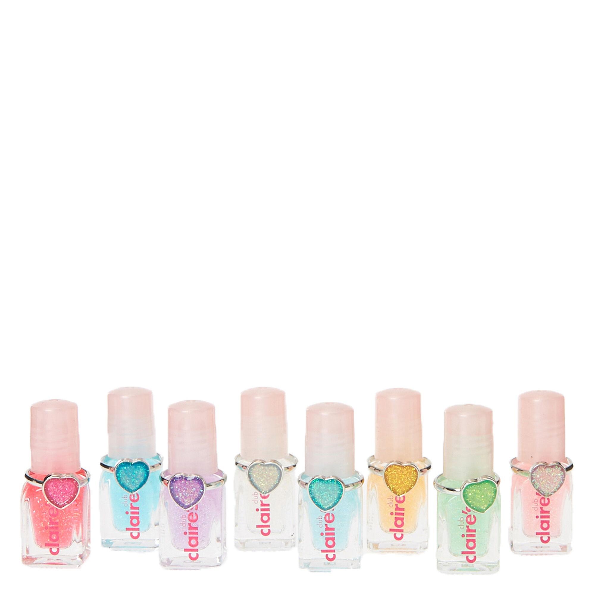 Kids 8 Pack Mini Nail Polish & Ring Set | Claire\'s