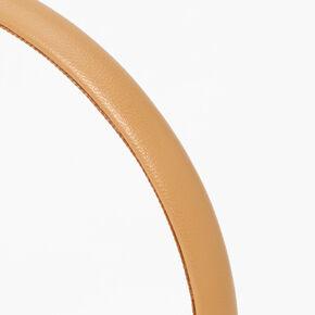 PU Thin Headband - Tan,