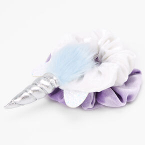 Claire's Club Medium Faux Fur Unicorn Scrunchie - 2 Pack,
