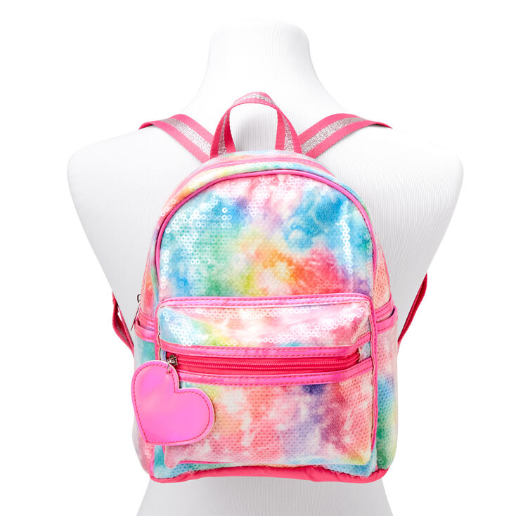 Sequin Tie-Dye Mini Backpack- Rainbow,