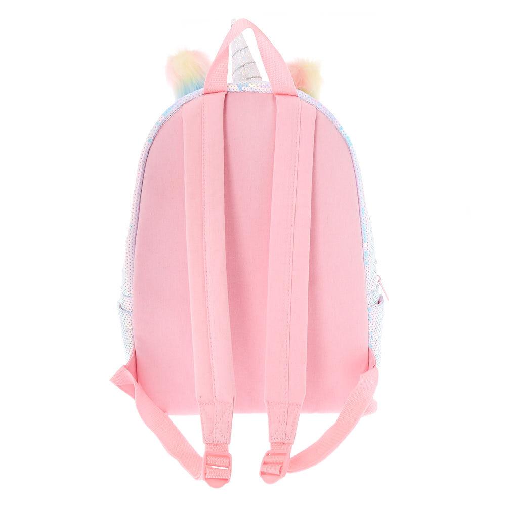Claire/'s Girl/'s Pastel Fuzzy Unicorn Bum Bag Pink