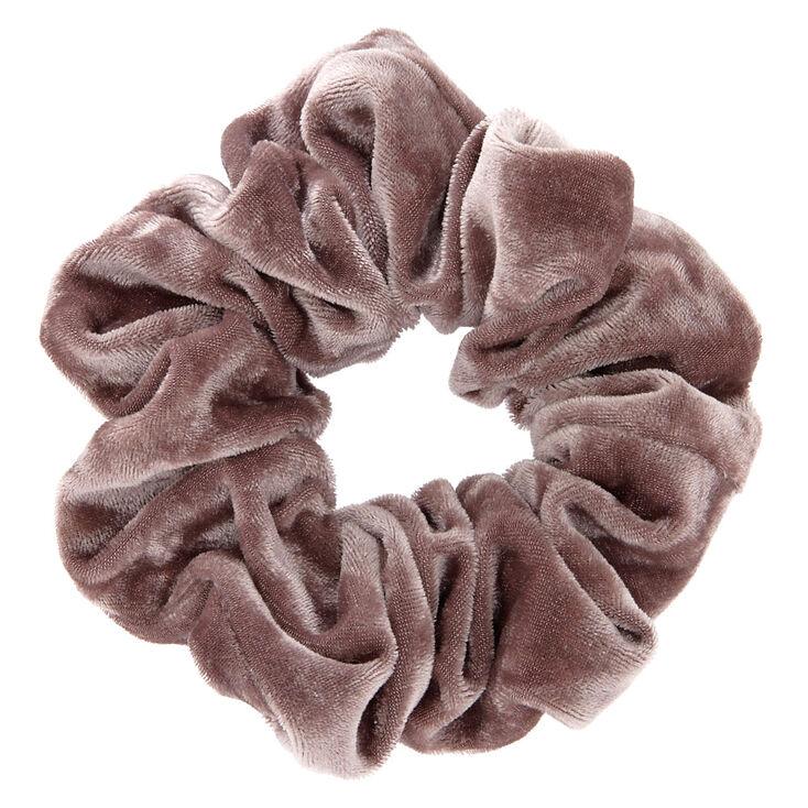 Medium Velvet Hair Scrunchie - Gray,