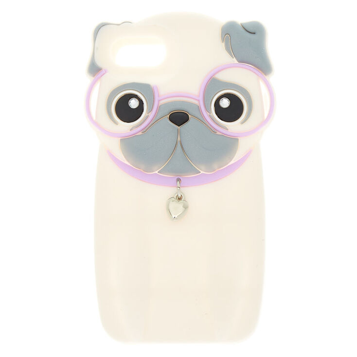 low priced 10f97 c15de Hipster Pug Phone Case - White