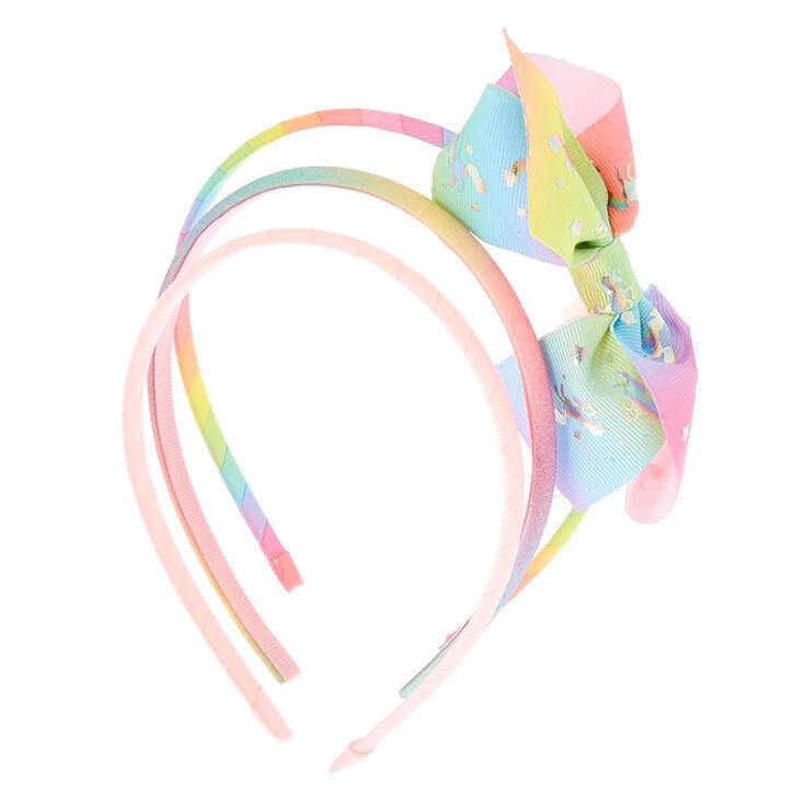 Claire's Club Pastel Glitter Unicorn Headbands - 3 Pack,
