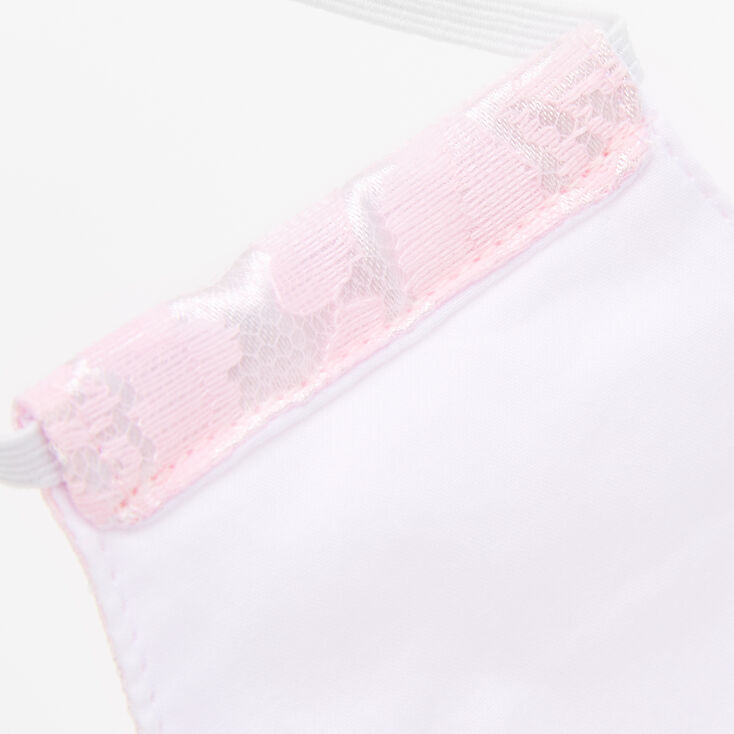 Blush Pink Lace Cloth Face Mask - Adult,