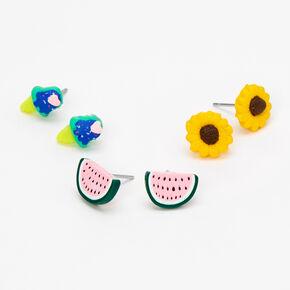 Summer Stud Earrings - 3 Pack,
