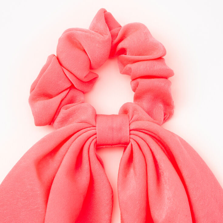 Small Hair Scrunchie Scarf - Neon Pink,