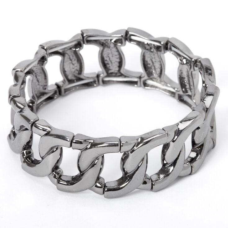 Hematite Chain Stretch Bracelet,