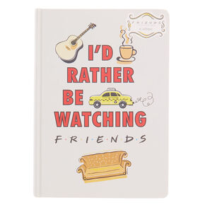 Go to Product: FRIENDS™ I'd rather be watching F.R.I.E.N.D.S notebook – White from Claires