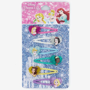®Disney Princess Glitter Snap Hair Clips – 6 Pack,