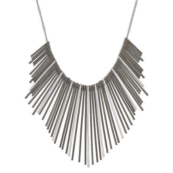 Claire's - glitter bar bib statement necklace - 1