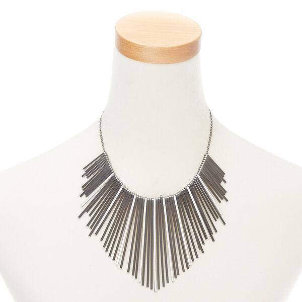 Claire's - glitter bar bib statement necklace - 2