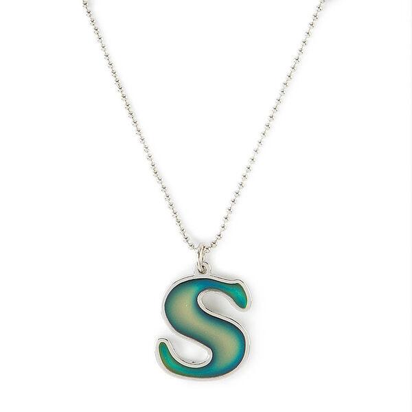 Claire's - collier d'humeur à pendentif avec initiale - s - 1