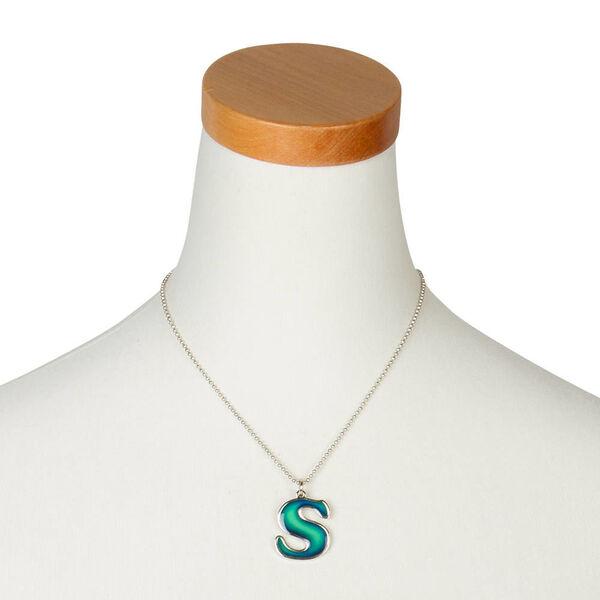 Claire's - collier d'humeur à pendentif avec initiale - s - 2