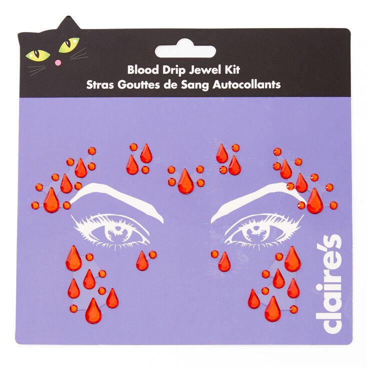 Blood Drip Face Gems - Red,
