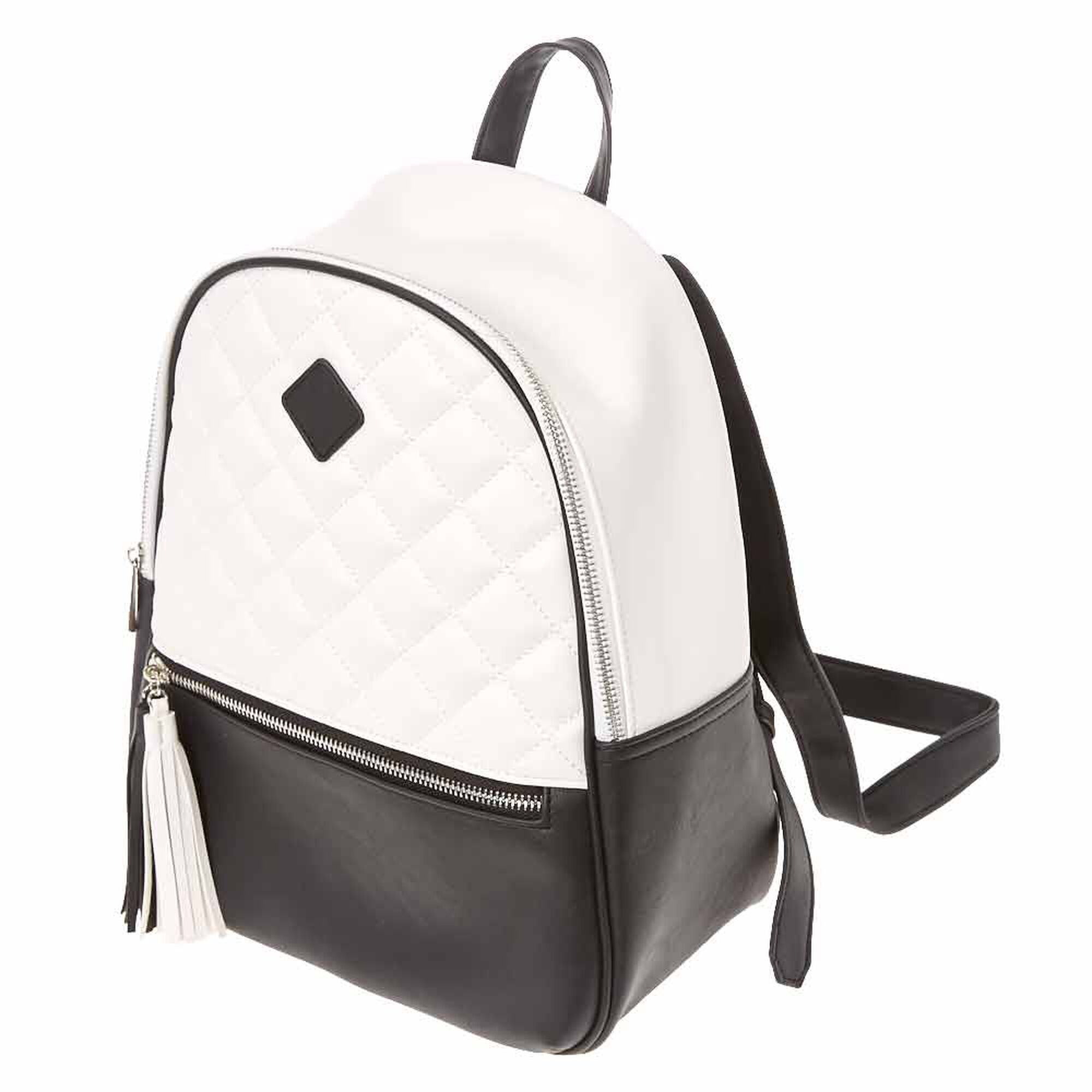ef998d1e6 Monochrome Quilted Backpack, · Monochrome Quilted Backpack, ...