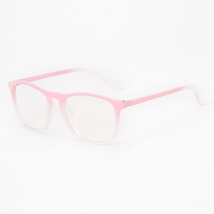 Light Pink Ombre Clear Glass Frames,